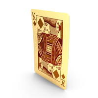 Golden Playing Cards King of Diamonds PNG & PSD Images