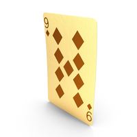 Golden Playing Cards 9 of Diamonds PNG & PSD Images