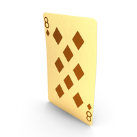 Golden Playing Cards 8 of Diamonds PNG & PSD Images