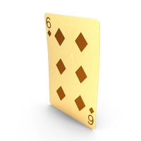 Golden Playing Cards 6 of Diamonds PNG & PSD Images