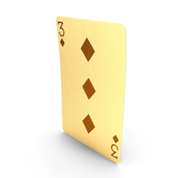 Golden Playing Cards 3 of Diamonds PNG & PSD Images