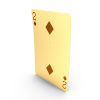 Golden Playing Cards 2 of Diamonds PNG & PSD Images
