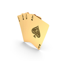 Golden Playing Cards Aces PNG & PSD Images