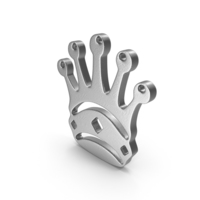 Queen Logo Silver PNG & PSD Images