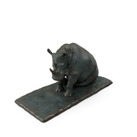 Sculpture Sitting Rhino PNG & PSD Images