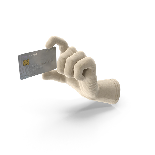 Glove Holding a Credit Card PNG & PSD Images