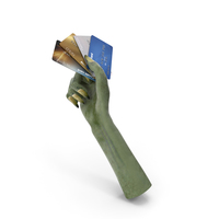 Creature Hand Holding Credit Cards PNG & PSD Images