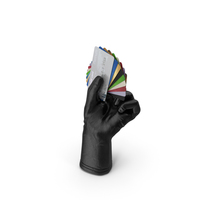 Glove Holding Credit Cards PNG & PSD Images