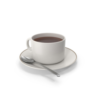 Coffee Cup With Spoon PNG & PSD Images