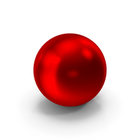 Ball Red Metallic PNG & PSD Images