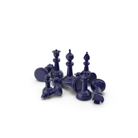 Chess Pieces Dark Blue PNG & PSD Images