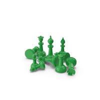 Chess Pieces Green PNG & PSD Images