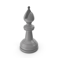 Chess Bishop Grey PNG & PSD Images