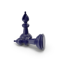 Chess Bishop Dark Blue PNG & PSD Images