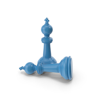 Chess King Blue PNG & PSD Images