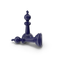 Chess King Dark Blue PNG & PSD Images