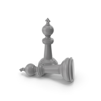Chess King Grey PNG & PSD Images