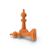 Chess King Orange PNG & PSD Images