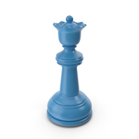 Chess Queen Blue PNG & PSD Images