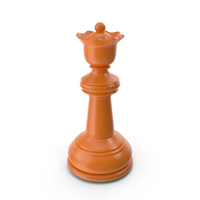 Chess Queen Orange PNG & PSD Images