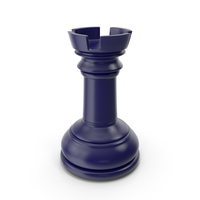 Chess Rook Dark Blue PNG & PSD Images