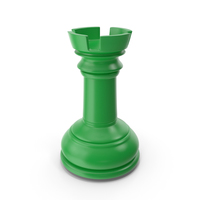 Chess Rook Green PNG & PSD Images