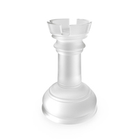 Chess Rook Matte Glass PNG & PSD Images