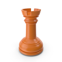 Chess Rook Orange PNG & PSD Images