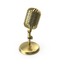 Microphone  Gold PNG & PSD Images