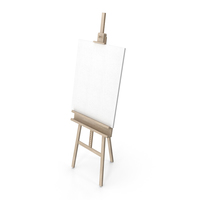 Easel With Canvas PNG & PSD Images