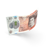 10 UK Pound Sterling Banknote Bill PNG & PSD Images