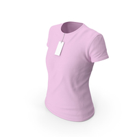 Female Crew Neck Worn With Tag Pink PNG & PSD Images