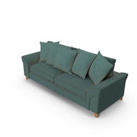 Sofa Worn with Pillows PNG & PSD Images