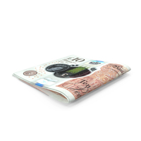 Small folded Stack of 10 UK Pound Banknote Bills PNG & PSD Images