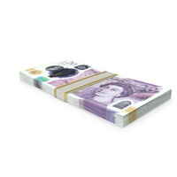 20 UK Pound Stack PNG & PSD Images