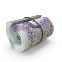 50 UK Pound Roll PNG & PSD Images