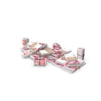 Pile of UK Pound Stacks PNG & PSD Images