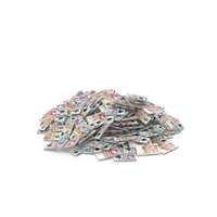 Large Pile of UK Pound Stacks PNG & PSD Images