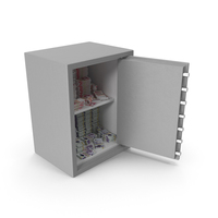 Safe with Uk Pound Stacks PNG & PSD Images