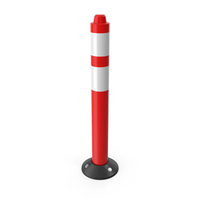 Traffic Bollard Red PNG & PSD Images