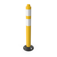 Traffic Bollard Yellow PNG & PSD Images