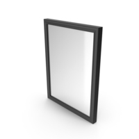 Wall Square Mirror Black PNG & PSD Images