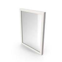 Wall Square Mirror White PNG & PSD Images