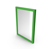 Wall Square Mirror Green PNG & PSD Images