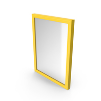 Wall Square Mirror Yellow PNG & PSD Images
