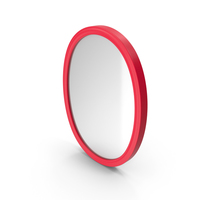 Wall Mirror Red PNG & PSD Images