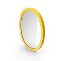 Wall Mirror Yellow PNG & PSD Images