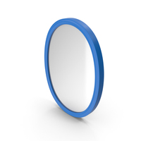 Wall Mirror Blue PNG & PSD Images