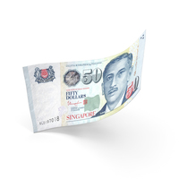 50 Singapore Dollar Banknote Bill PNG & PSD Images