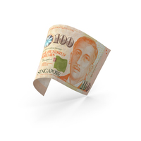 100 Singapore Dollar Banknote Bill PNG & PSD Images